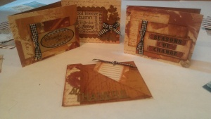 4 autumn cards