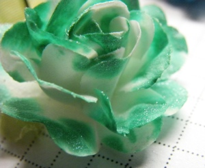 shabby turbine teal flower
