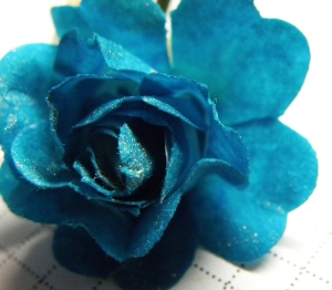 time travel teal flower